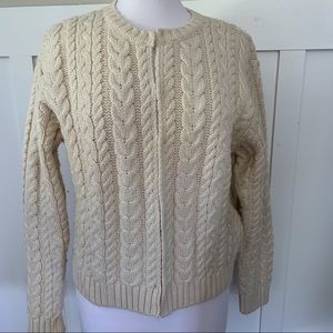 Vintage Paul James England CableKnit Sweater Wool